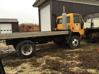 1997 Ford Diesel with flat deck  satetied