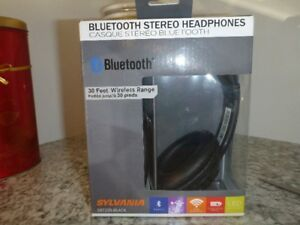 BRAND NEW Sylvania Bluetooth Wireless Headphones w/Microphone