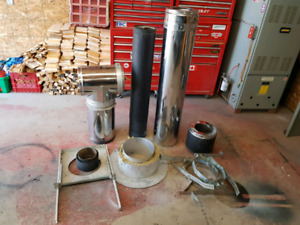 """6"""" SELKIRK PIPE AND ACCESSORIES"""