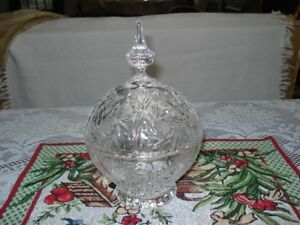 Pin Wheel Crystal Candy Dish