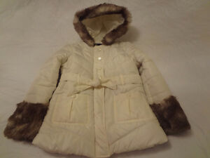 Girls Jacket with Faux Fur Size 6