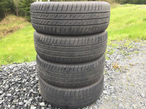 Four Kumho P185/60R15 Summer Tires