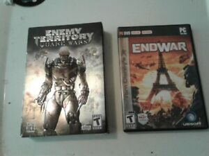 Pc games$10Tom Clancy/End of war-$10 Enemy Territory/Quake wars