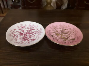 FINE BONE CHINA SAUCERS (2) - COALPORT - CAIRO BIRD