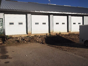 10' x 10' WHITE COMMERCIAL INSULATED ROLL UP DOORS - 4 AVAILABLE