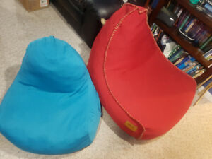 2 Comfy Bean Bag Chairs