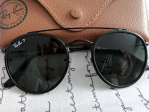 Blacked out aviator Ray-Ban's with case, 9/10 condition