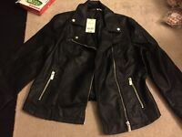 Leather jacket size 12 brand new