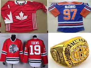 Superbe chandails/jerseys de hockey TOUTES Équipes/Joueurs