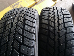 2x 185/65R14 Studded winter tires 50-60% Tred