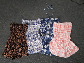 4 ladies playsuits size 10/12 good clean condition
