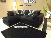 black chenille corner sofa new in stock call now for these sofas with lots more on offer to choose