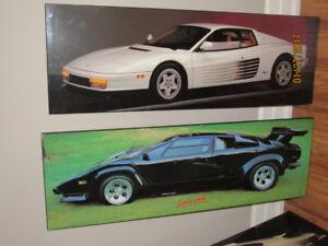 Lambo, Porshe old unique cars picture frames