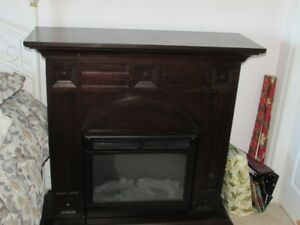 Electric Fire Place (chocolate brown)