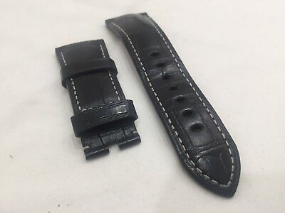 Authentic OFFICINE PANERAI 27mm X 22mm BLACK Alligator BAND STRAP NEW