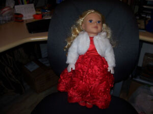 NEWBERRY DOLL WITH EXTRA CLOTHES