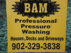 PROFESSIONAL PRESSURE WASHING- HOMES,DECKS LIKE NEW AGAIN (BAM)