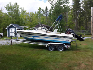1995 19ft Stratos Sport Fishing boat