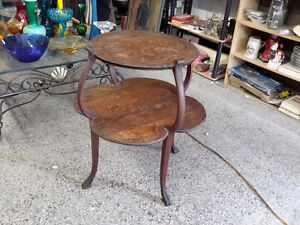 ANTIQUE PARLOUR TABLE TWO TIER TABLE STUNNING!!!!!! $90.00