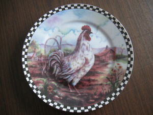 2 Decorative Rooster Plates Prince George British Columbia image 2