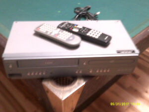 VHS/DVD Player with remotes