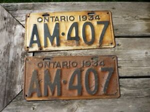 Licence Plates 1930 's