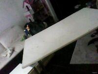 white small doube headboard