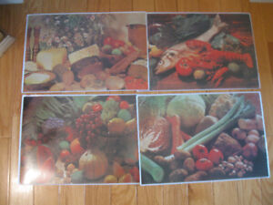 "FOUR ""CREATE YOUR OWN "" PLACEMATS..[NEW]...NEVER USED"