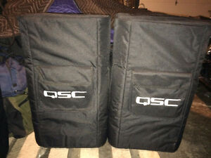 "2-QSC KW122 1000W 12"" Active 2-Way Loudspeaker w QSC covers"