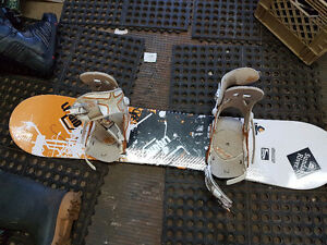 Kids board and bindings for sale
