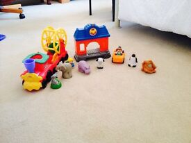 Fisher price little people zoo trailer and other figures
