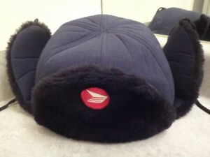 Official Canadapost Employee Uniform Winter Fur Hat NEW