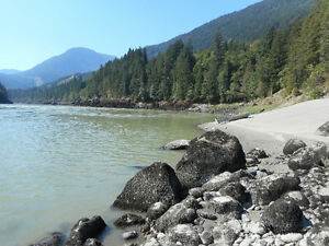 Placer gold claim on Fraser river at Spuzzum