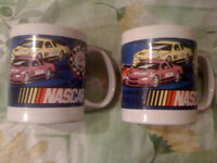 2 NASCAR Car Racing Ceramic  MUGS SHERWOOD 2004 Race