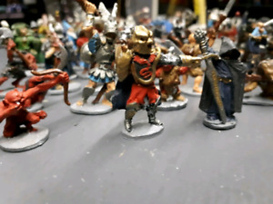 Dungeons and Dragons metal mini figures