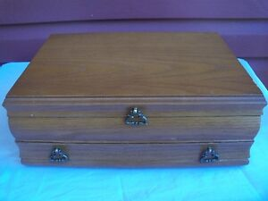 Set of Beautiful Well Made Jewellry Box with pull out door!