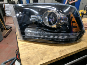 Dodge Ram projector led black Driver's side headlight