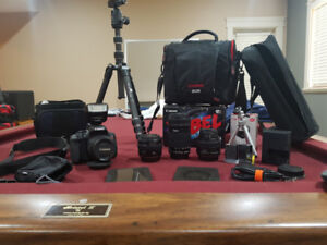 Canon T6i DSLR CAMERA with 4 lenses and lots of extra gear