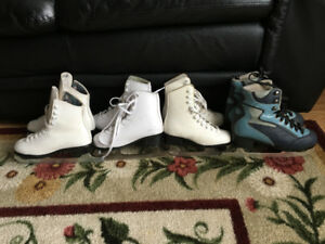 Girls / Youth Figure skates - 4 pair - $15 each