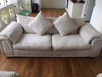 Cream sofa & 2 chairs