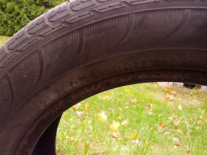 4 USED SUMMER  TIRES