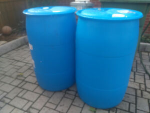Blue plastic drum / barrel