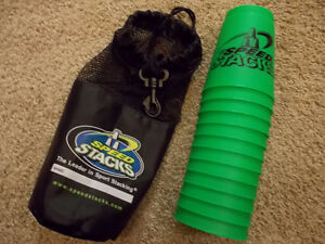 Cup stacking- Speed Stacks - mat, timer, cups (2 sets available)
