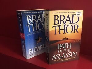 Two BRAD THOR Paperback Thriller Novels - Great condition!