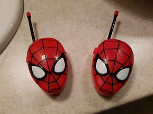 Spiderman walkie talkies