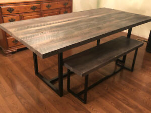NEW RECLAIMED TABLE & BENCH