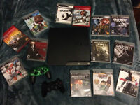 PS3 with 14 games for sale, 125$ OBO