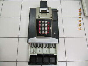 Vintage Smith Corona Wind Up Style Cash Register Circa 1950-60s