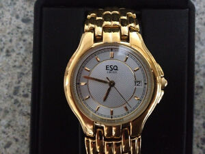 ESQ (Esquire) gold plated watch - $50