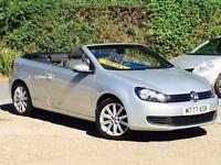 2012 Volkswagen Golf Cabriolet 1.6TDI S BlueMotion (s/s) Silver 43,422 Miles FSH